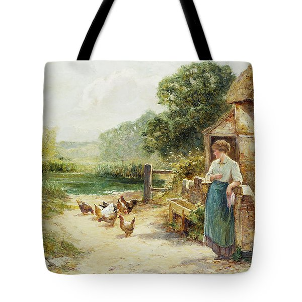 Feeding Time Tote Bag by Ernest Walbourn