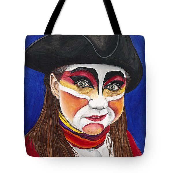 Female Carnival Pirate Tote Bag by Patty Vicknair