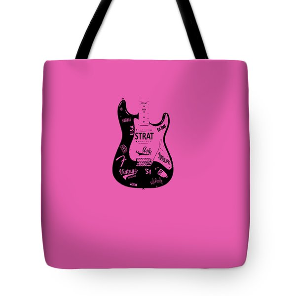 Fender Stratocaster 54 Tote Bag by Mark Rogan