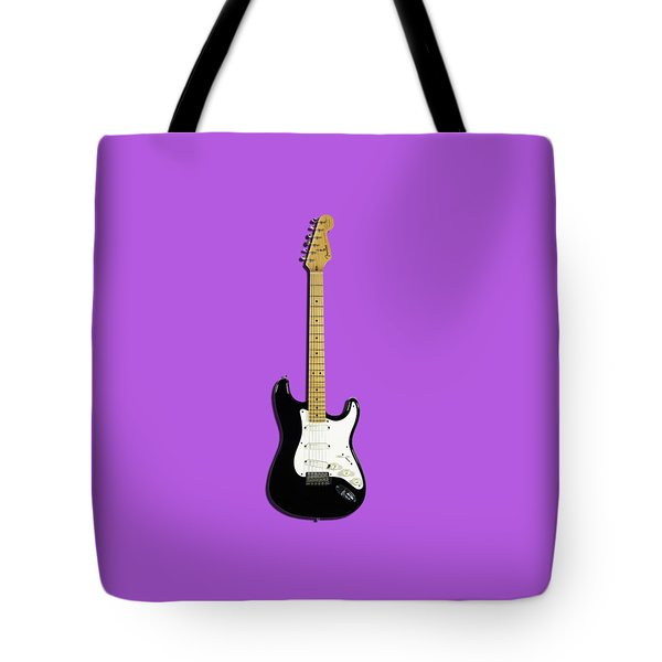 Fender Stratocaster Blackie 77 Tote Bag by Mark Rogan