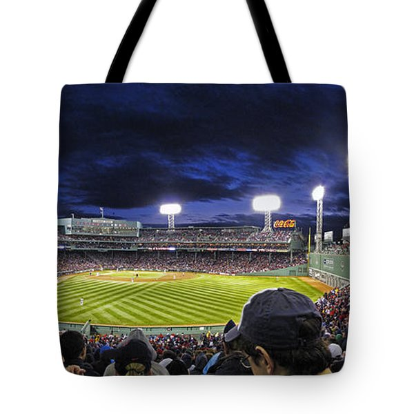 Fenway Night Tote Bag by Rick Berk
