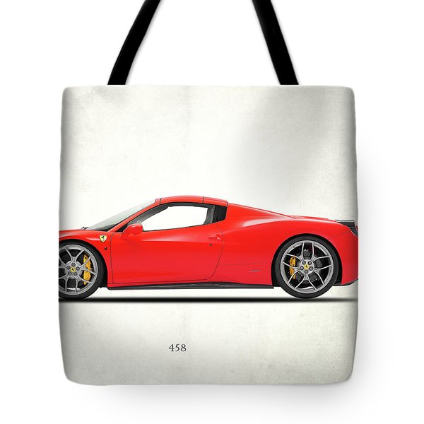 Ferrari 458 Italia Tote Bag by Mark Rogan