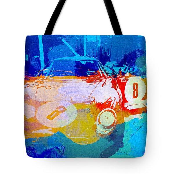 Ferrari Pit Stop Tote Bag by Naxart Studio