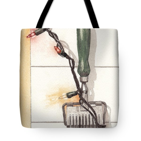 Festive Antique Herb Cutter Tote Bag by Ken Powers