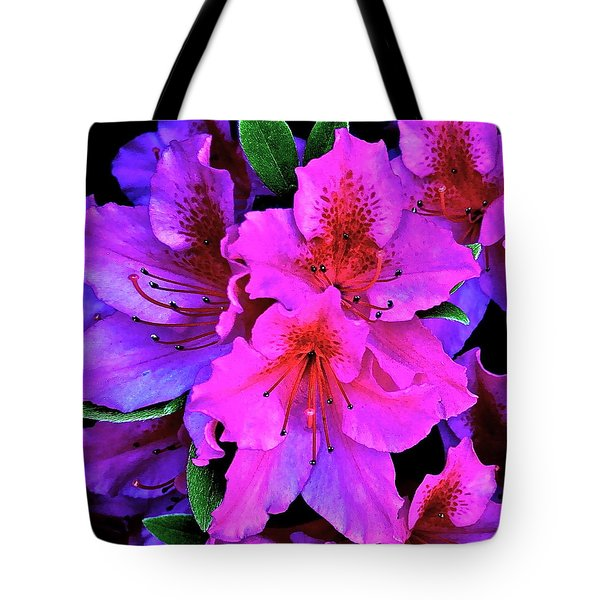 Festive Azalea Tote Bag by Gwyn Newcombe