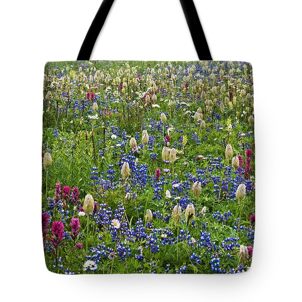 Field Of Wildflowers Tote Bag by Greg Vaughn - Printscapes