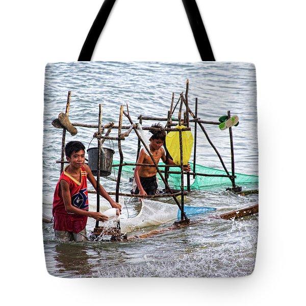 Filipino Fishing Tote Bag by James BO  Insogna