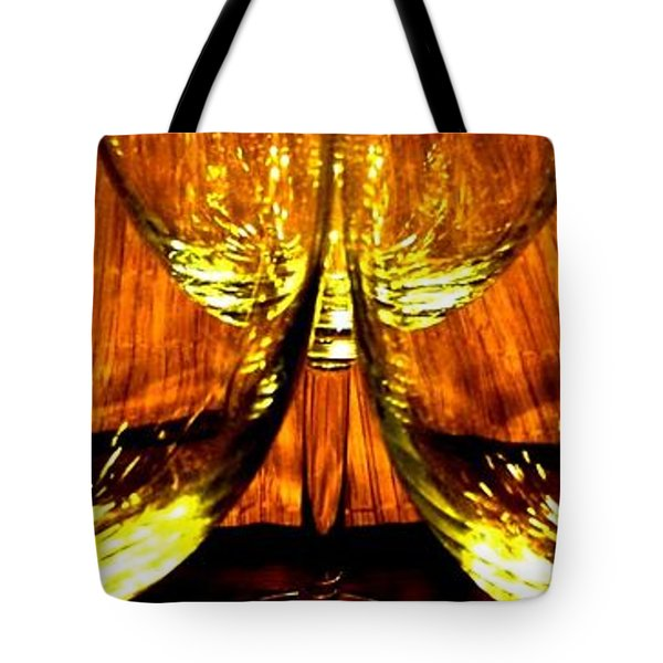 Fine Wine And Dine 3 Tote Bag by Will Borden