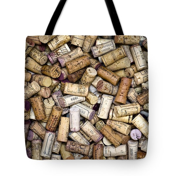 Fine Wine Corks Tote Bag by Frank Tschakert