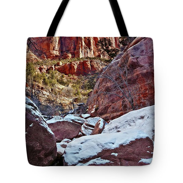 Fire And Ice Tote Bag by Christopher Holmes