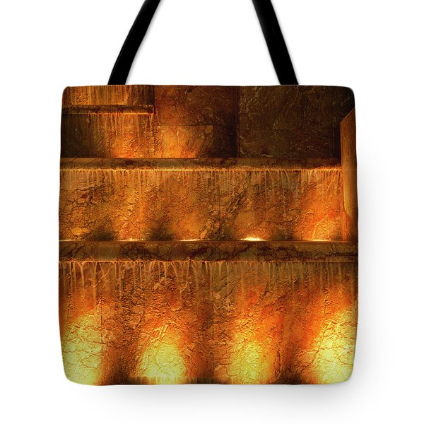 Fire And Water Tote Bag by Sandra Bronstein