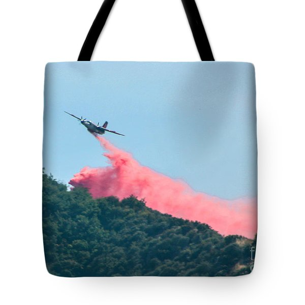 Fire Bomber Drop Tote Bag by Tommy Anderson