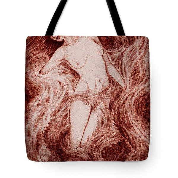 Fire Tote Bag by Debra A Hitchcock