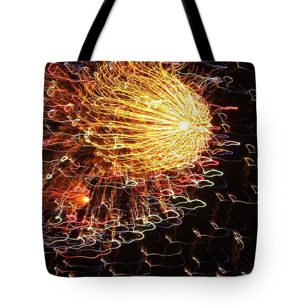 Fire Flower Tote Bag by KAREN WILES