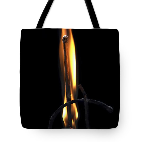 Fire Match Tote Bag by Michal Boubin