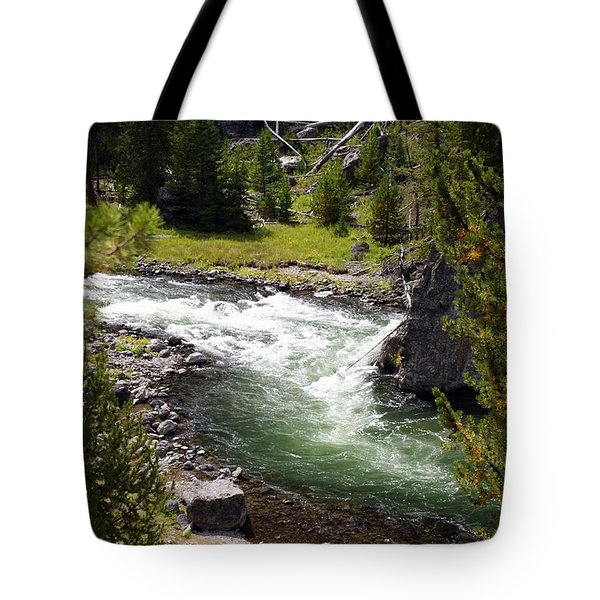Firehole Canyon 2 Tote Bag by Marty Koch
