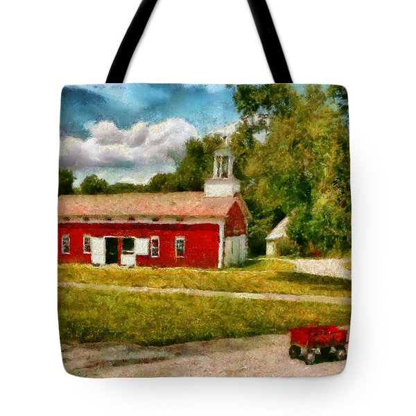 Fireman - I Want To Be A Firefighter Tote Bag by Mike Savad