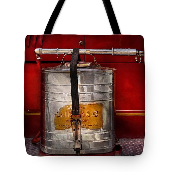 Fireman - Indian Pump  Tote Bag by Mike Savad