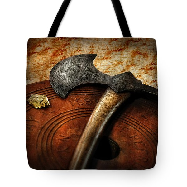 Fireman - The fire axe  Tote Bag by Mike Savad