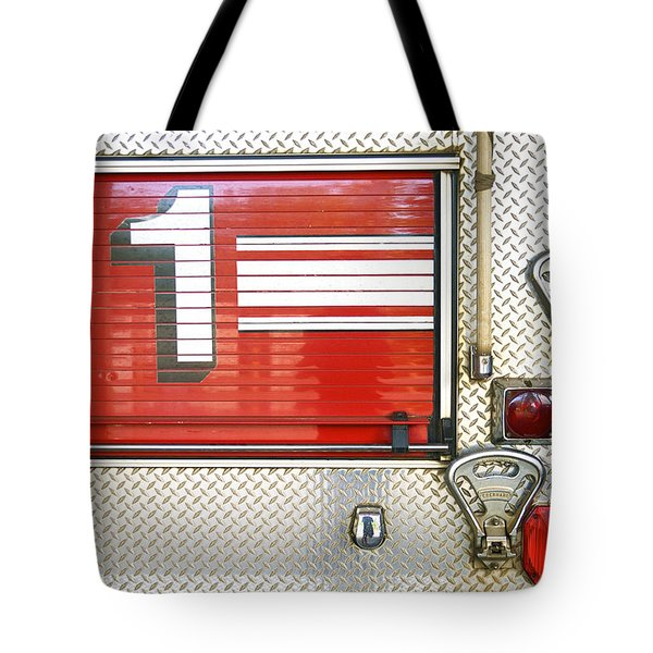 Firetruck Detail I Tote Bag by Kicka Witte - Printscapes