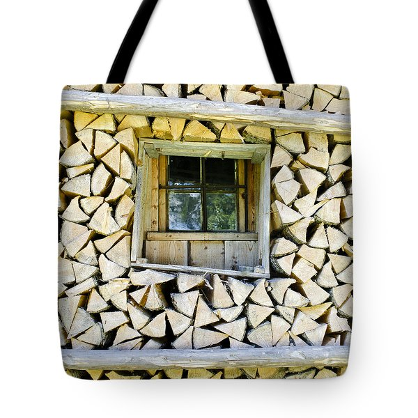 Firewood Tote Bag by Frank Tschakert
