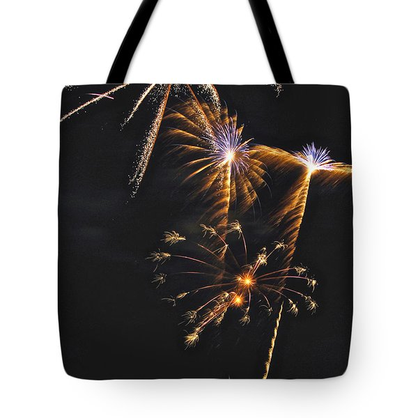 Fireworks 3 Tote Bag by Michael Peychich