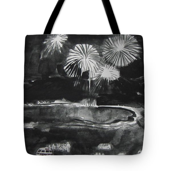 Fireworks At Eagle Nest Lake...0oohh..aahh.. Tote Bag by Laurie Hill Phelps