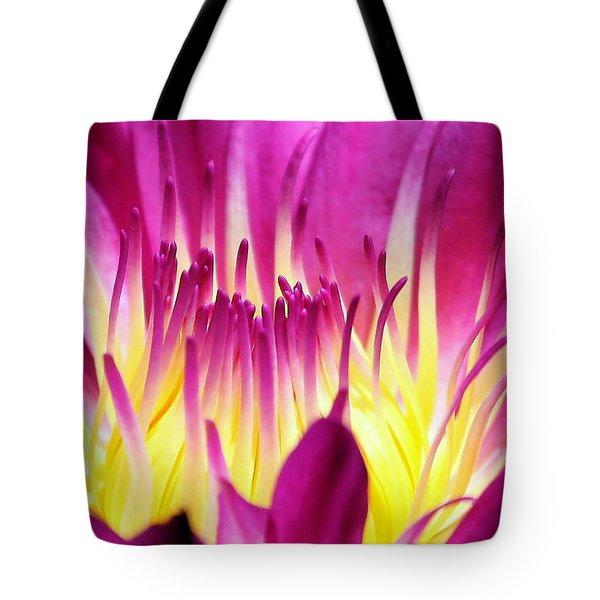 Firey Magenta Tote Bag by Sabrina L Ryan