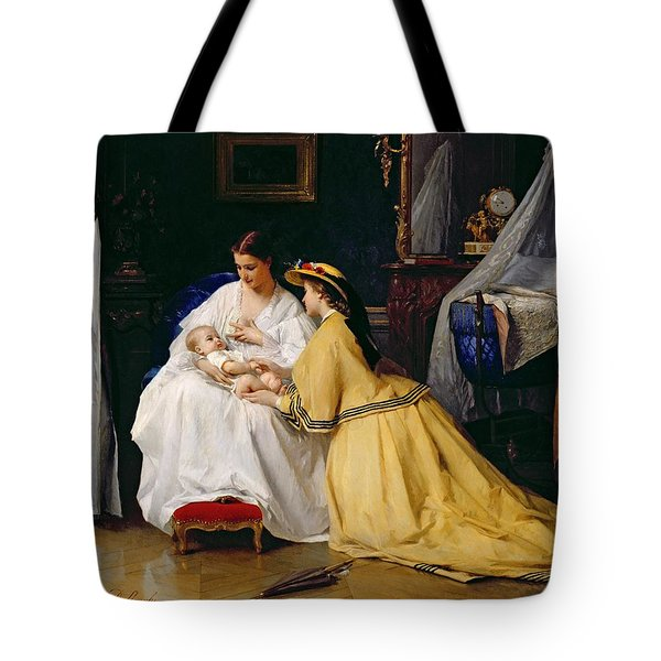 First Born Tote Bag by Gustave Leonard de Jonghe