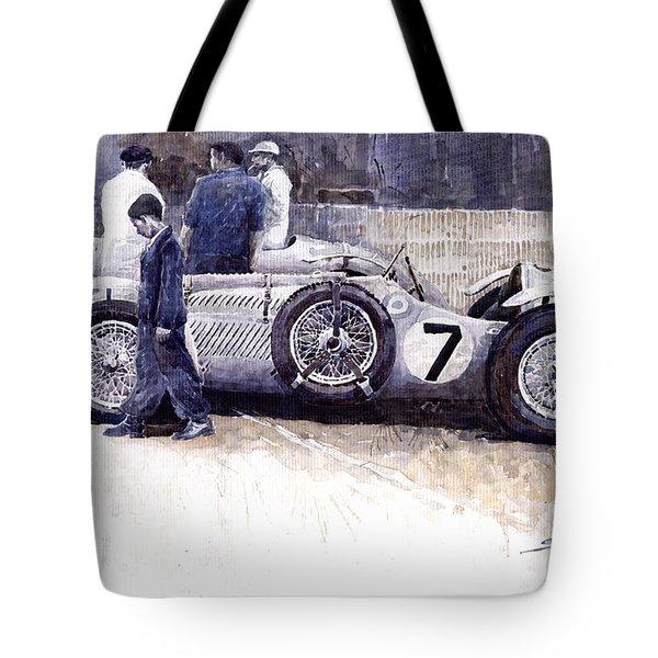 First Met Up Talbot Lago Le Mans 1950 Tote Bag by Yuriy  Shevchuk