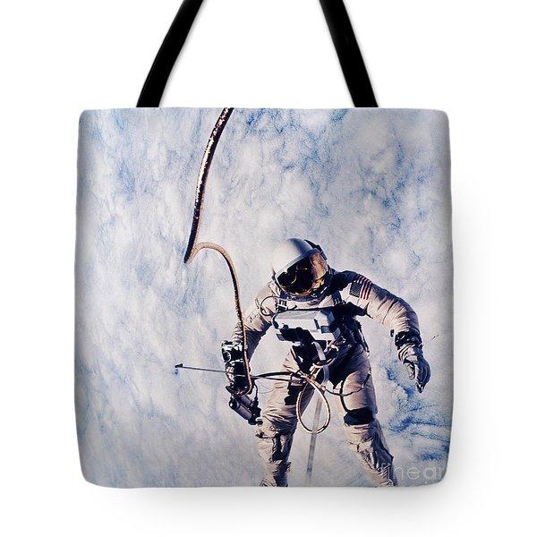 First Spacewalk Tote Bag by NASA