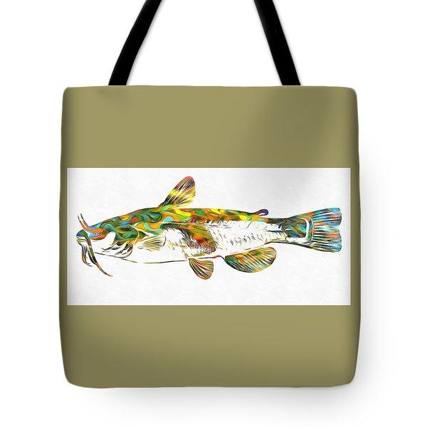 Fish Art Catfish Tote Bag by Dan Sproul