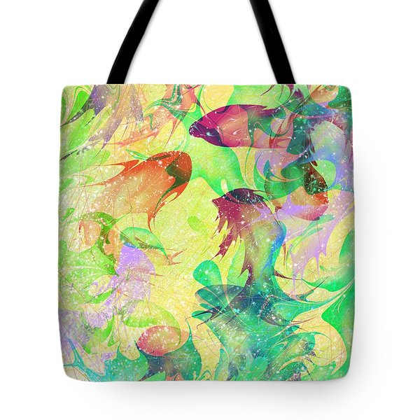 Fish Dreams Tote Bag by Rachel Christine Nowicki