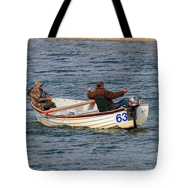 Fishermen In A Boat Tote Bag by Louise Heusinkveld