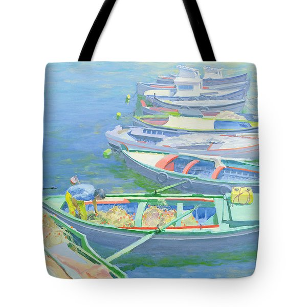Fishing Boats Tote Bag by William Ireland