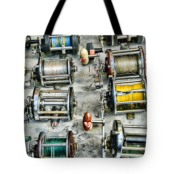 Fishing - Fishing Reels Tote Bag by Paul Ward