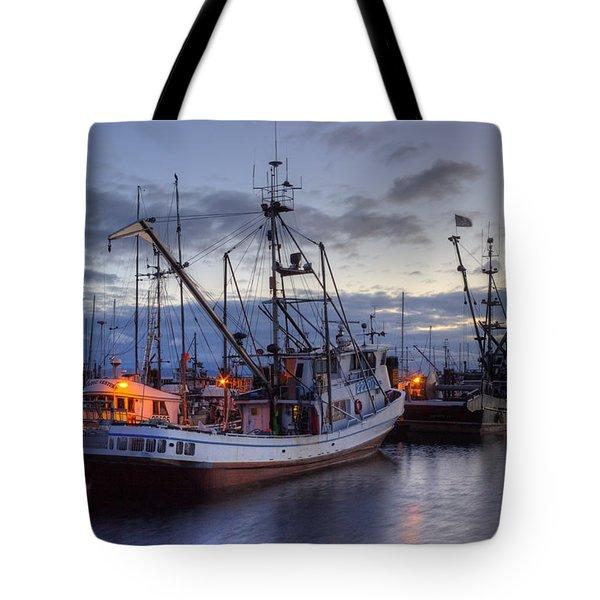 Fishing Fleet Tote Bag by Randy Hall