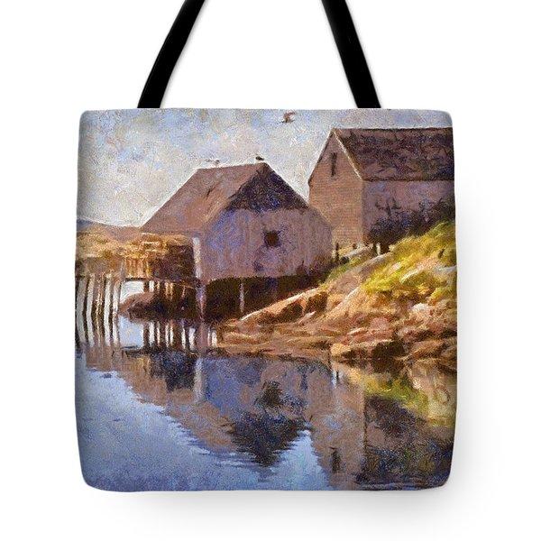 Fishing Wharf Tote Bag by Jeff Kolker