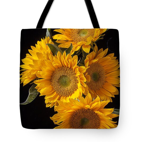 Five sunflowers Tote Bag by Garry Gay