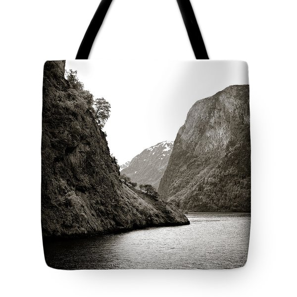 Fjord Beauty Tote Bag by Dave Bowman