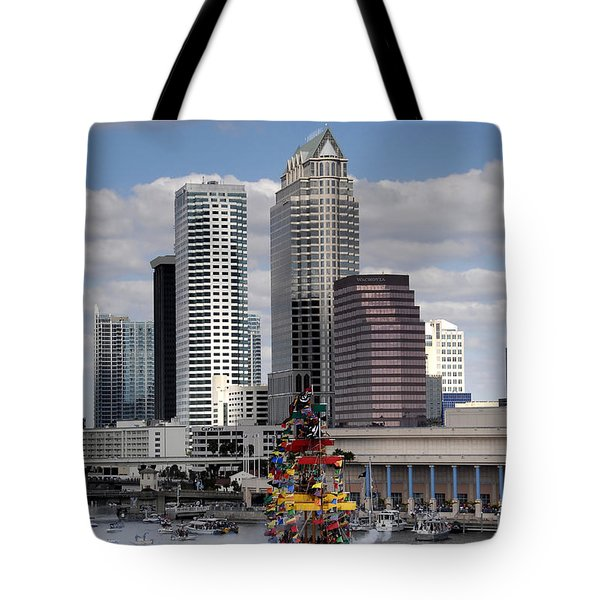 Flags Of Gasparilla Tote Bag by David Lee Thompson