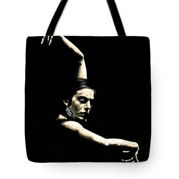 Flamenco Arms Tote Bag by Richard Young