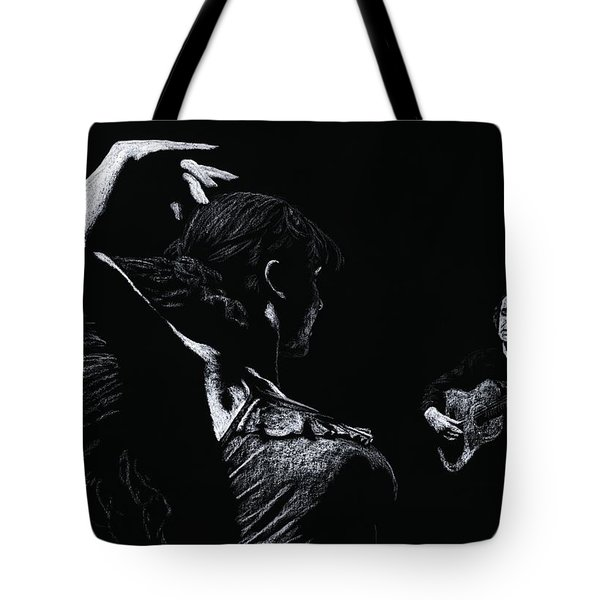 Flamenco Recital Tote Bag by Richard Young