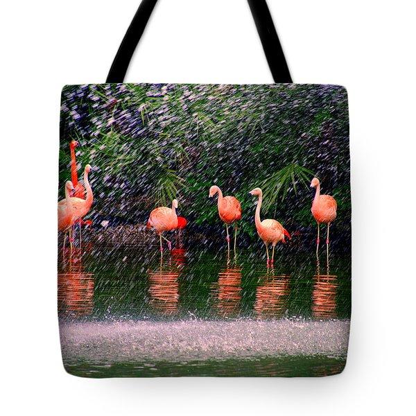 Flamingos II Tote Bag by Susanne Van Hulst