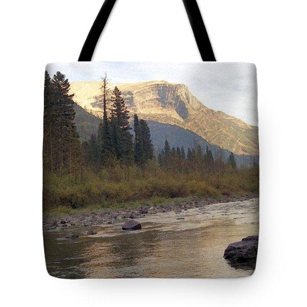 Flathead River Tote Bag by Richard Rizzo