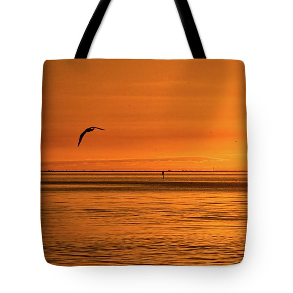 Flight At Sunset Tote Bag by Christopher Holmes