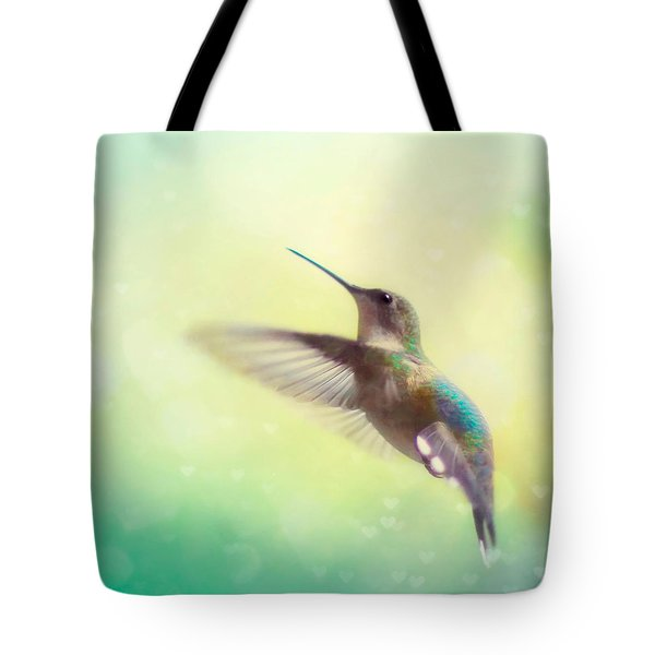 Flight Of Fancy - Square Version Tote Bag by Amy Tyler