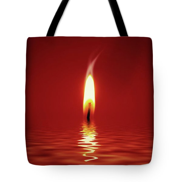 Floating Candlelight Tote Bag by Wim Lanclus