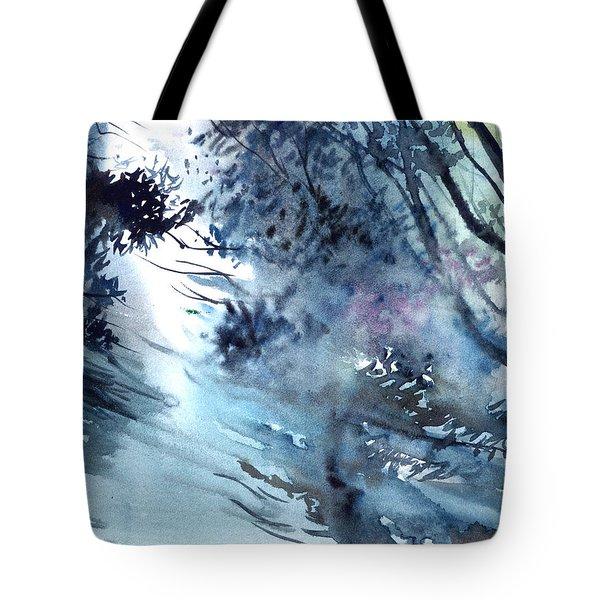 Flooding Tote Bag by Anil Nene