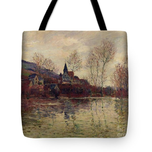 Floods At Giverny Tote Bag by Claude Monet